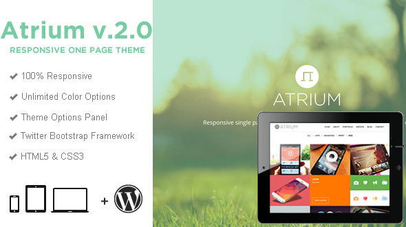Atrium v2.1.0 — One Page Parallax WordPress Theme