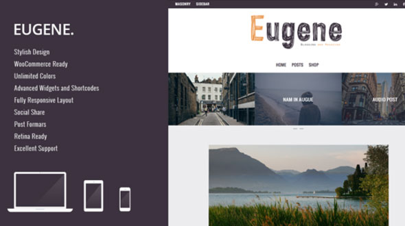 Eugene – Premium WordPress Theme for Blog or Magazine