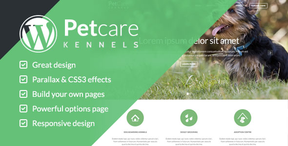Pet Care v1.2 — Dog Kennels WordPress Themes
