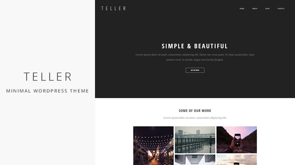 Teller — Minimal & Responsive Portfolio/Blog WordPress Theme