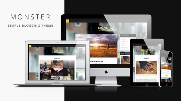 Monster — Simple Blogging Responsive WordPress Theme