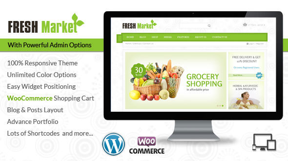 Fresh Market — Grocery WordPress Theme