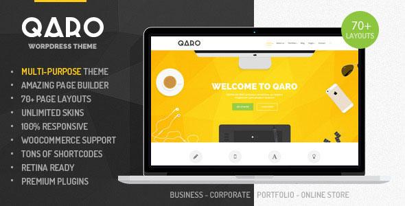 Qaro v1.3.1 — Responsive Multi-Purpose WP Theme
