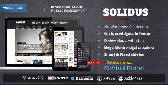 Solidus v1.1.1 — Clean Magazine Theme