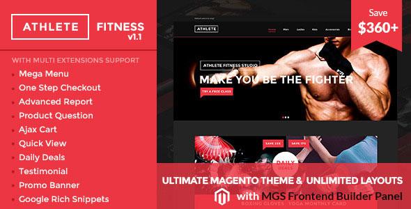 Athlete   Fitness — Multipurpose Magento theme