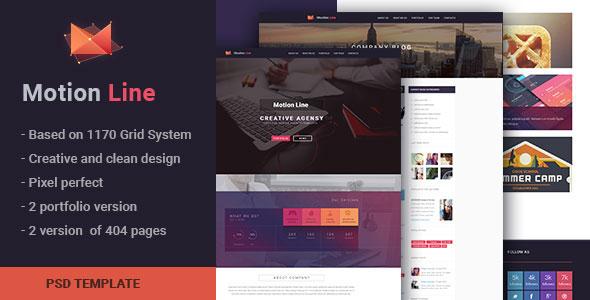 Motion Line — creative portfolio PSD template