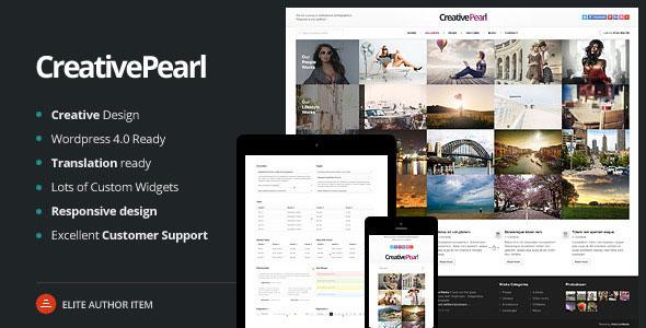 CreativePearl v1.3 — Photography Responsive WP Theme