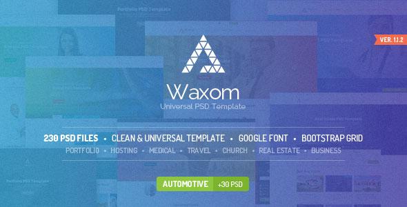 Waxom — Clean & Universal PSD Template