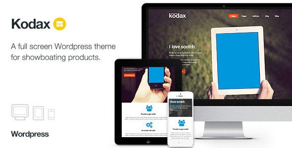 Kodax v1.8 — Themeforest WP Full Screen Landing Page