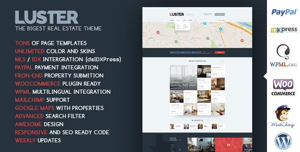 Luster v1.9 — The Biggest Real Estate WordPress Theme