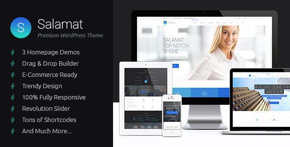 Salamat v2.0.1 — Themeforest Multipurpose WordPress Theme