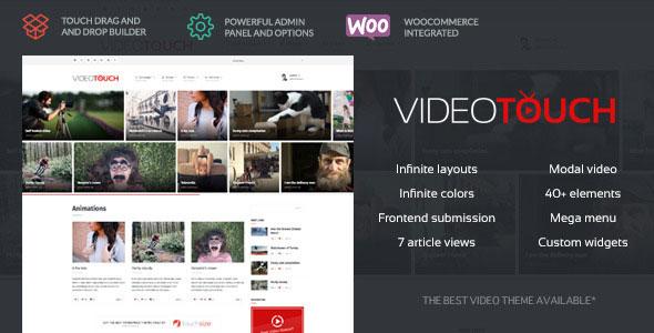 VideoTouch v1.6 — Themeforest Video WordPress Theme