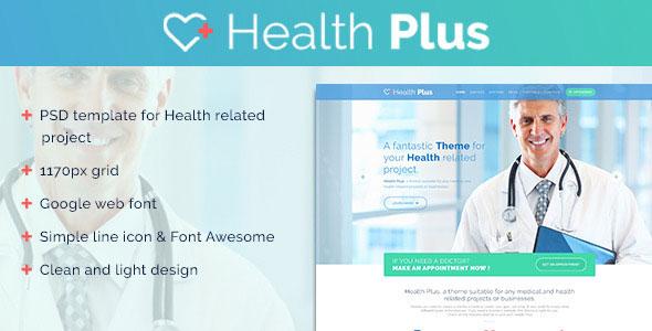Health Plus – Clinic PSD Template