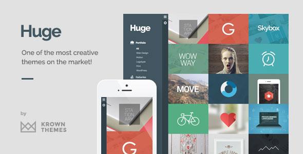 Huge v1.6.2 — Unique & Modern 3D Portfolio for Creatives