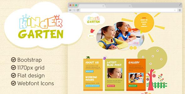 Kindergarten PSD Template