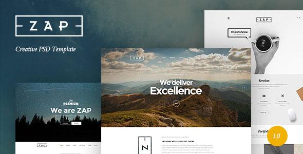 ZAP — Creative PSD Template