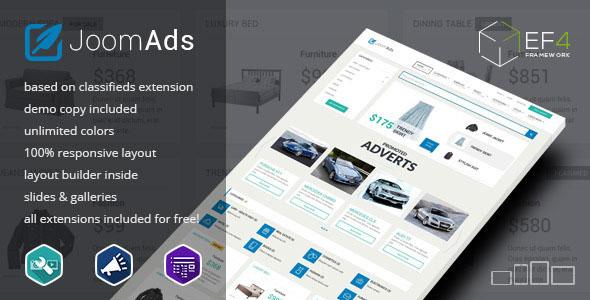 JoomAds — multipurpose listings site
