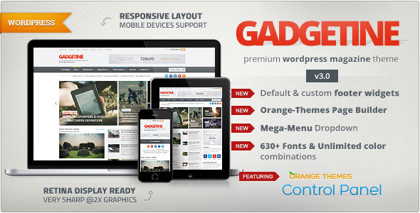 Gadgetine v3.0.7 — WordPress Theme for Premium Magazine