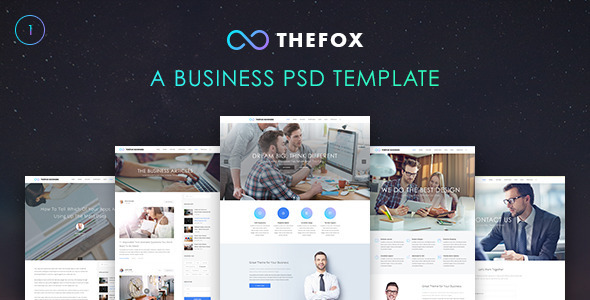TheFox Business PSD Template
