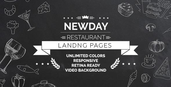 New Day — Responsive Landing Restaurant HTML