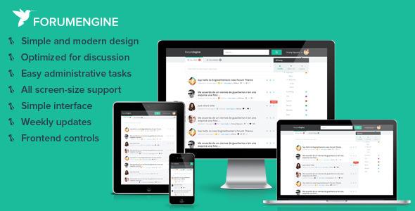 ForumEngine v1.6.3 — Flat Responsive WordPress Forum Theme