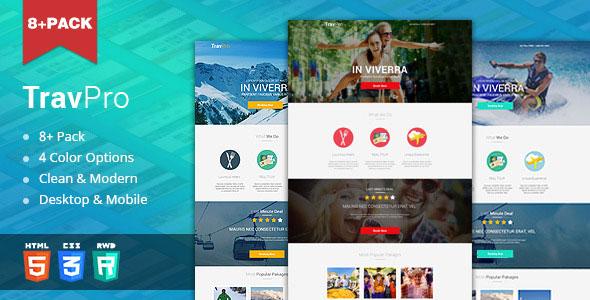 TravelPro — Travel Landing Page (HTML5)