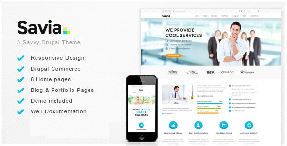 Savia — Responsive Multi-Purpose Drupal Theme