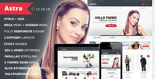 Astra — Responsive Multipurpose Magento theme
