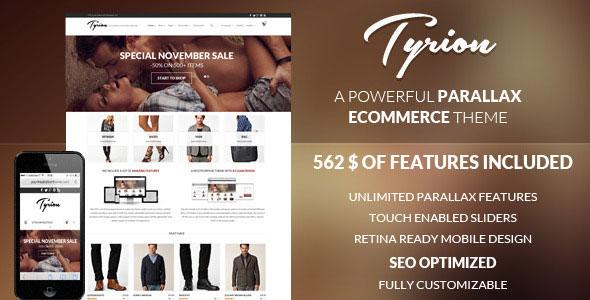 Tyrion v1.6.6 — Flexible Parallax e-Commerce Theme