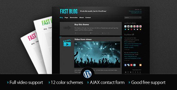 Fast Blog v1.7.4 — Themeforest Premium Theme