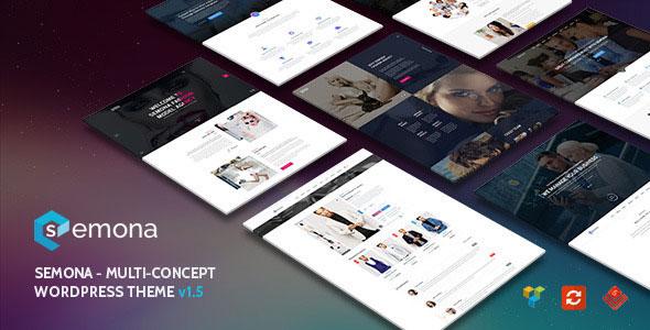 Semona — Creative Multi-Concept WordPress Theme