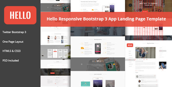 HELLO — Responsive Bootstrap App Landing Page