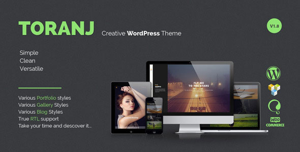 Toranj v1.8 — Responsive Creative WordPress Theme