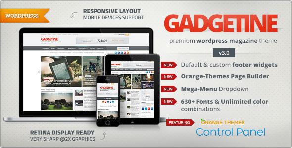 Gadgetine v3.0.8 — WordPress Theme for Premium Magazine