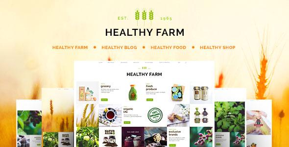Healthy Farm v1.8 — Food & Agriculture WordPress Theme