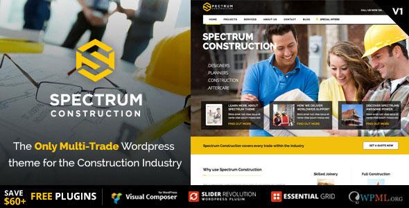 Spectrum v2.0.2 — Multi-Trade Construction Business Theme