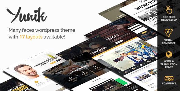 Yunik v1.3 — Ultimate Multi-Concept WordPress Theme