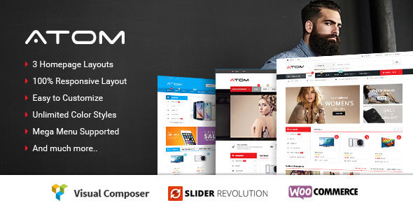 Atom — Responsive WooCommerce WordPress Theme