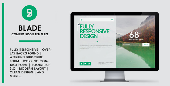 BLADE — Responsive Coming Soon Template