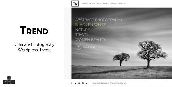 Trend v3.7 — Photography WordPress Theme