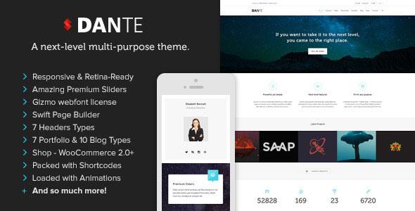 Dante v3.20 — Responsive Multi-Purpose WordPress Theme