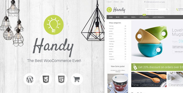 Handy v3.1 — Handmade Shop WordPress WooCommerce Theme