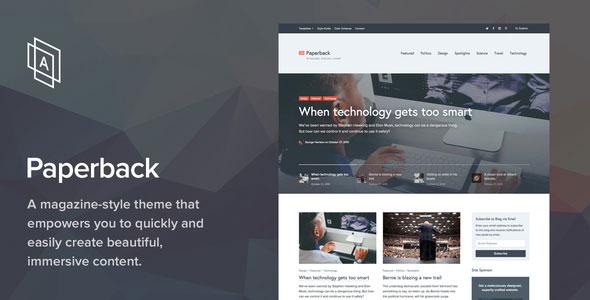 Paperback v1.2.2 — Magazine WordPress Theme