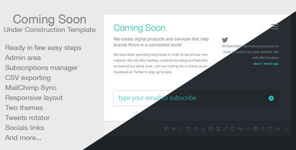 Coming Soon — Themeforest Template