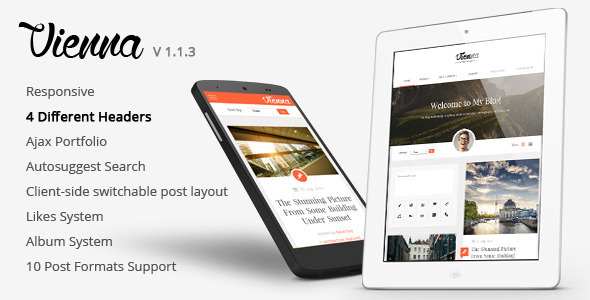 Vienna v1.1.3 — Content Focused Personal Blog Theme