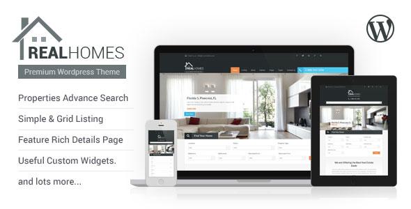 Real Homes v2.4 — Themeforest WordPress Real Estate Theme