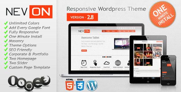 Nevon v2.8 — Responsive Business Portfolio Theme