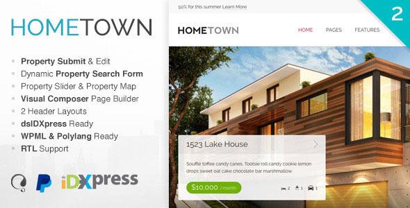 Hometown v2.3.0 — Real Estate WordPress Theme
