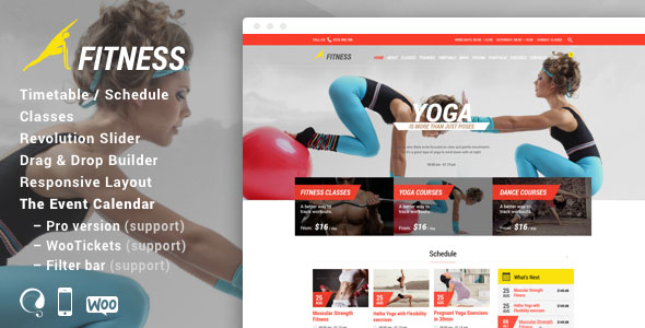 Fitness Sport Gym Responsive Theme v5.0