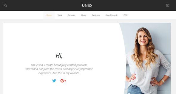 Uniq — Yootheme Premium Joomla Template